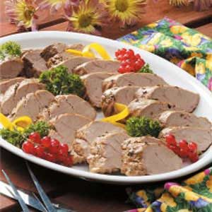 Pork Tenderloin with Herb Sauce