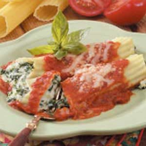Overnight Spinach Manicotti