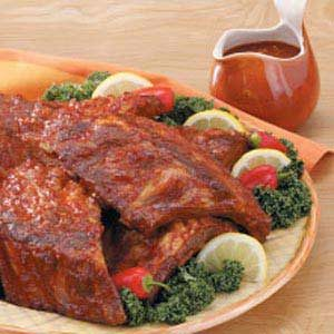 Baked Barbecued Spareribs