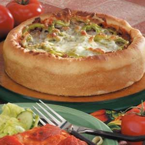Sausage Deep Dish Pizza