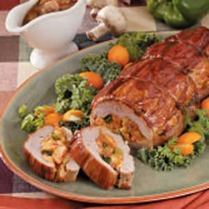 Crawfish-Stuffed Pork Tenderloins