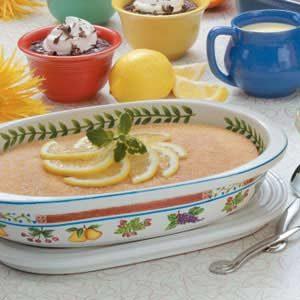Lemony Baked Pudding