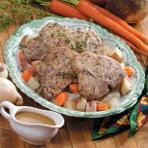 Cider Pork Chop Dinner