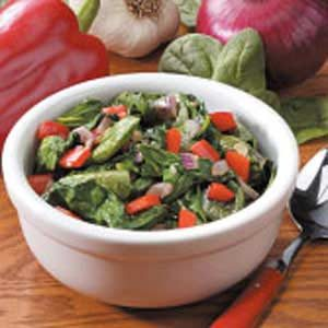 Sauteed Spinach and Peppers