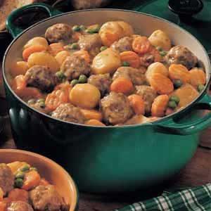 Microwave Meatball Stew