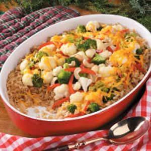 Brown Rice Vegetable Casserole