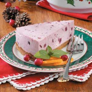Chilled Cranberry Cheesecake
