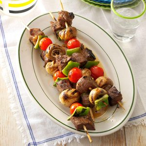 Vegetable Steak Kabobs