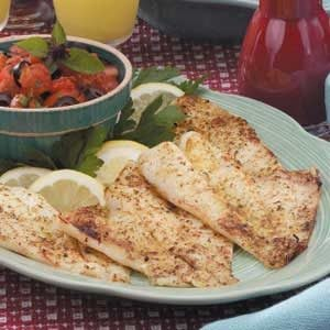 Broiled Orange Roughy with Italian Salsa