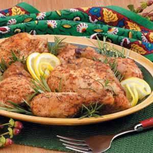 Light Butter Roasted Chicken