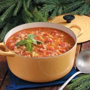 Turkey Barley Tomato Soup