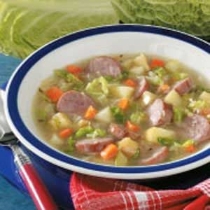 Fast Kielbasa Cabbage Soup