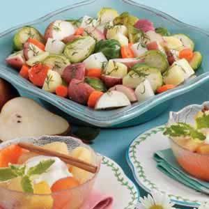 Steamed Winter Vegetables