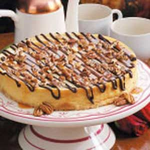 Chocolate-Caramel Topped Cheesecake