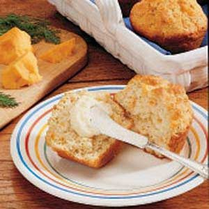 Dill and Cheddar Muffins