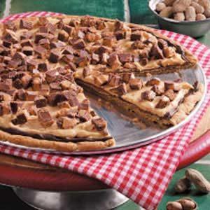 Triple Peanut Pizza