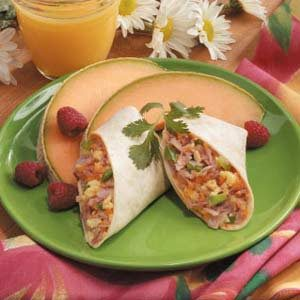 Ham n Egg Breakfast Wrap