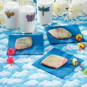 Tie-Dyed Kite Cookies