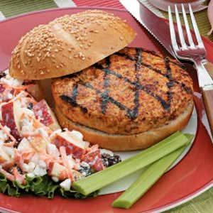 Grilled Turkey Vegetable Burger