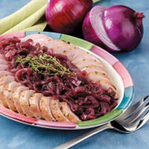 Pork Tenderloin with Glazed Red Onion