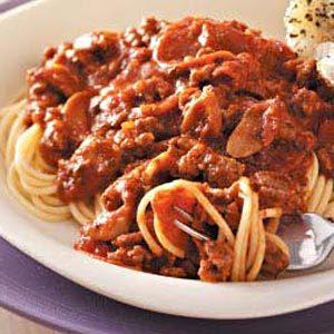 Two-Meat Spaghetti Sauce
