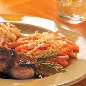 Baked Horseradish Carrots