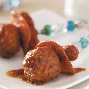 Mini Hot Dogs 'n' Meatballs