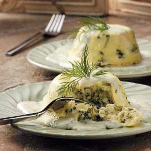 Broccoli Timbales with Lemon Sauce