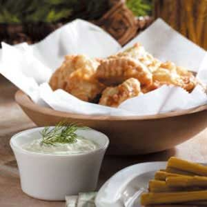 Nuggets with Dill Sauce