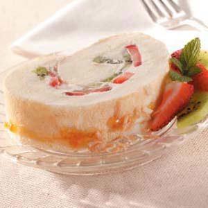 Fruity Coconut Cake Roll