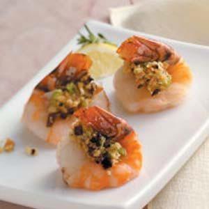 Mushroom-Stuffed Shrimp