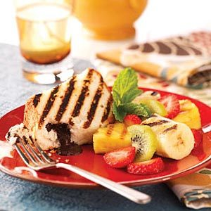 Grilled Cake and Fruit