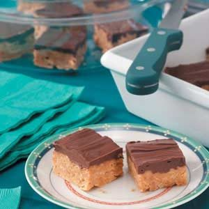 Chocolate Butterscotch Peanut Butter Cereal Bars