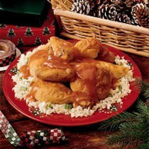 Orange-Glazed Chicken with Rice