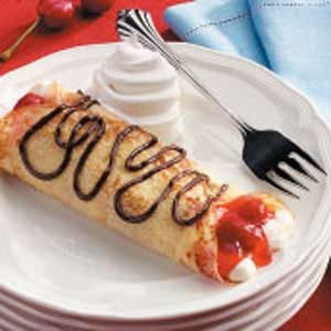 Chocolate-Cherry Cream Crepes