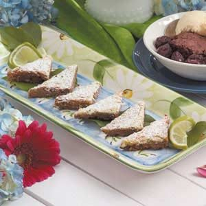 Lime Coconut Triangles