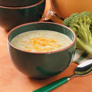Broccoli Cheese Soup for 2