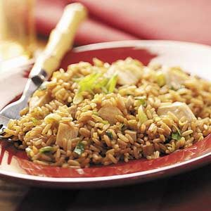 Quick Chicken Fried Rice for Two