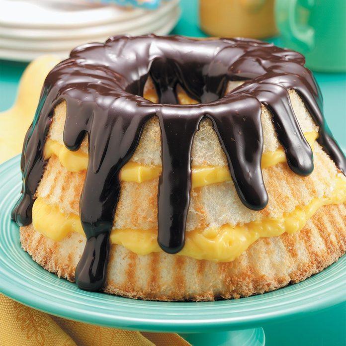 Boston Cream Angel Cake