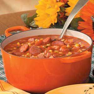 Autumn Sausage Corn Soup