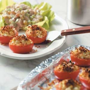 Broiled Tomatoes with Artichokes