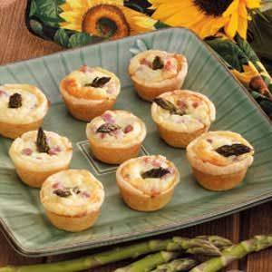 Asparagus Ham Tartlets