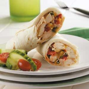 Italian Chicken Wraps