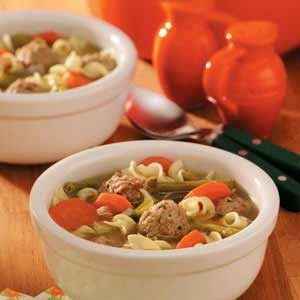 Turkey Meatballs Soup