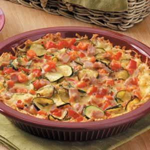 Vegetable Ham Quiche