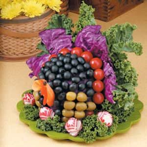 Veggie Turkey Centerpiece