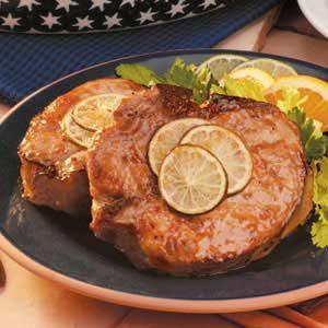 Pork Chops with Orange Glaze