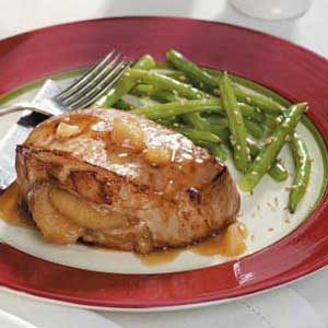 Ginger-Apple Pork Chops