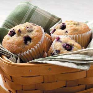 Sugar-Dusted Blueberry Muffins
