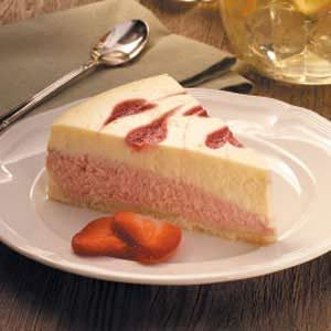 Strawberry Swirl Cheesecake